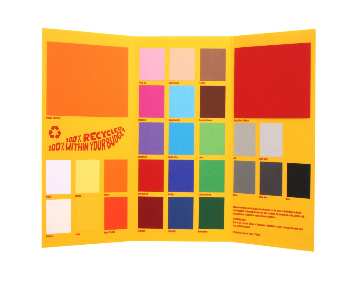 Colorset Recycled Paper & Card